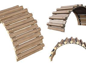 Playground Wooden Logs 3D