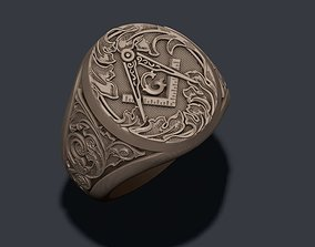 Mason ring templar 3D print model