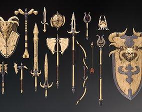 3D model Fantasy Weapon Bone set