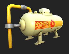 3D asset Stylized Gas Tank 01