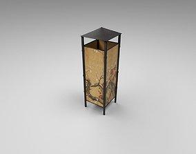 Bamboo lamp 3D model VR / AR ready