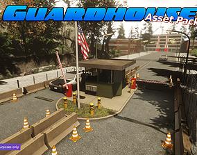 Low-Poly Guardhouse Pack 3D asset