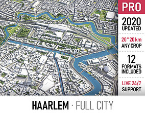 3D model Haarlem - city and surroundings