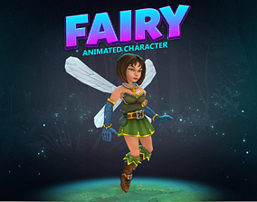Fairy animated character 3D asset
