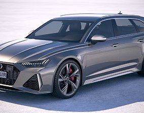 3D wagon Audi RS6 Avant 2020