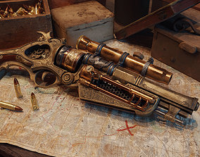 Steampunk Gun - Queens Tender 3D model
