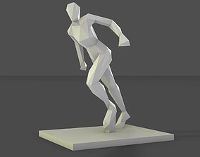 3D print model women running stance