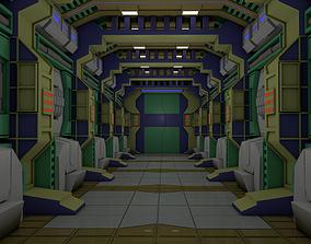 3D model Sci Fi Corridor future