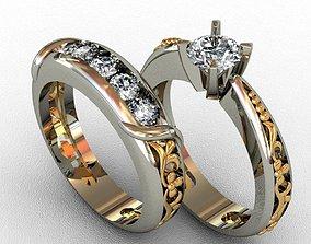 silver jewelery-design Diamond Ring 3D print model