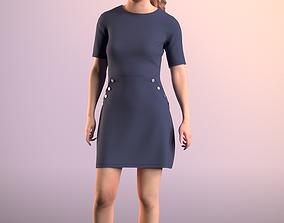 Nadin 20001-11 - Animated Talking Girl 3D asset