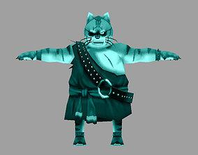 3D asset model charater cat