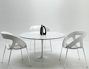 Chairs and Table for Arch Viz 3D asset