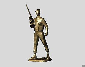 3D printable model Commando Figurine