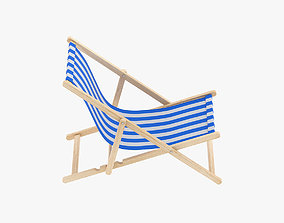 fabric Beach Chair 3D
