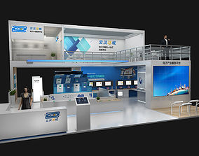 Exhibition stand 12x12mtr 3sides open 3D model