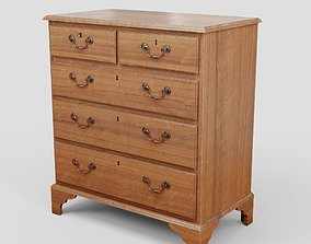 Mahagony antique chest of drawers 3D