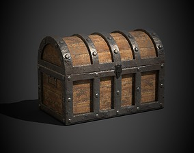 Treasure Chest 3D model animated