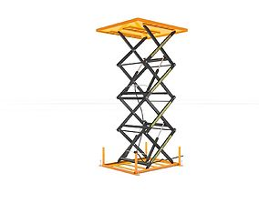 Load Lifting Platform Goods Elevator 3D model