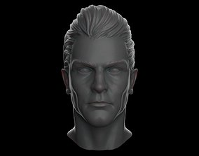 Realistic White Male Head - Hairstyle 3D printable model
