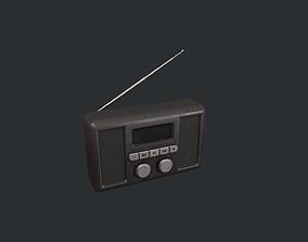 3D model Black Portable Radio