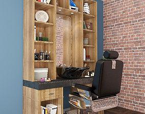 Cabinets barbershop 3D