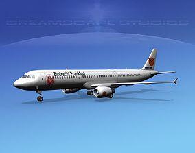 3D model Airbus A321 Eintracht Frankfurt