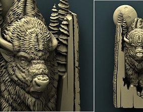Bison 3d stl model for cnc carving