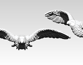 3D print model American Flying Bird Eagle Hawk Detailed