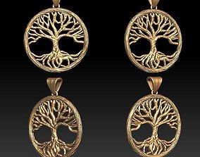 Tree pendant 3D printable model