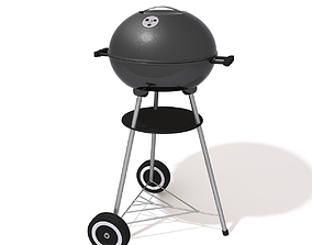 Barbecue Charcoal Grill 3D