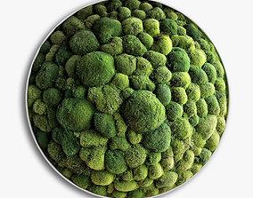 3D model panel moss boulder