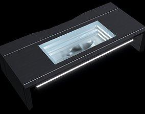 Scifi table 3D asset low-poly