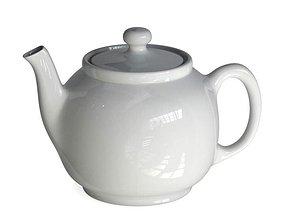 Classic White Porcelain Teapot 3D