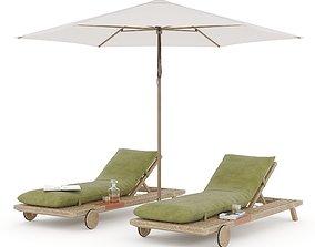 Prestoria Umomoku Outdoor Lounge Set 03 3D model