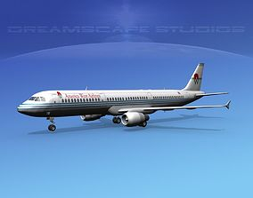 Airbus A321 America West Airlines 3D