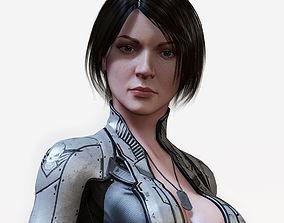 3D asset Sci Fi Girl