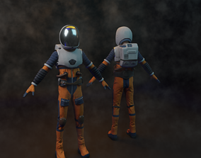 Spacesuit 3d model game-ready