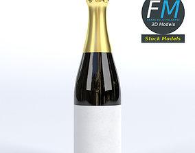 3D PBR Champagne bottle