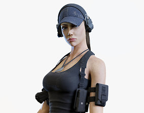 3D model Army Girl 02