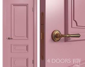 3D Internal door Academy Navarra 4 doors 1