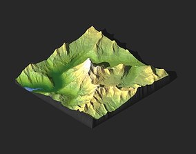 3D MODEL OF MOUNT ROBSON FOR CNC AND 3D PRINTING