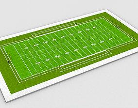 3D model American Football Field NFL