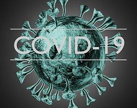 3D asset Corona virus 2020