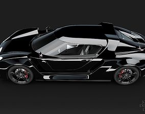 3D Concept Car and Chassis vehicle