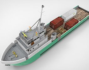 3D asset Old Supply Vessel