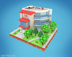Cartoon City Hotel 3D model