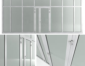 3D model Glass fire doors and partitions Nayada