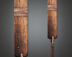 Post Apocalyptic Cricket Bat - PAM - PBR Game 3D asset 1