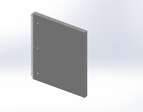 Micro Perforated College Notebook 3D