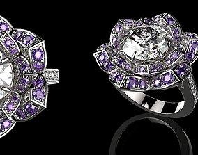 sapphire 3D print model Beautiful Fashion Jewelry Ring